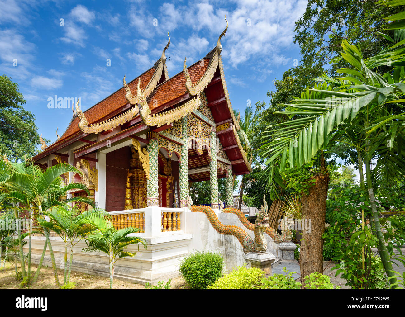 Chiang Mai, Thailand small temple building. - Stock Image