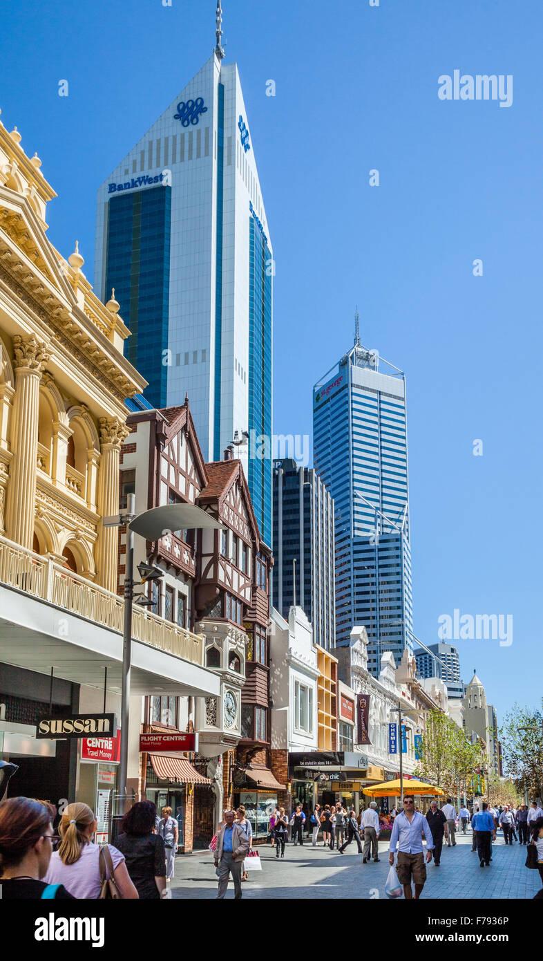 Australia, Western Australia, Perth, Hay Street Mall - Stock Image