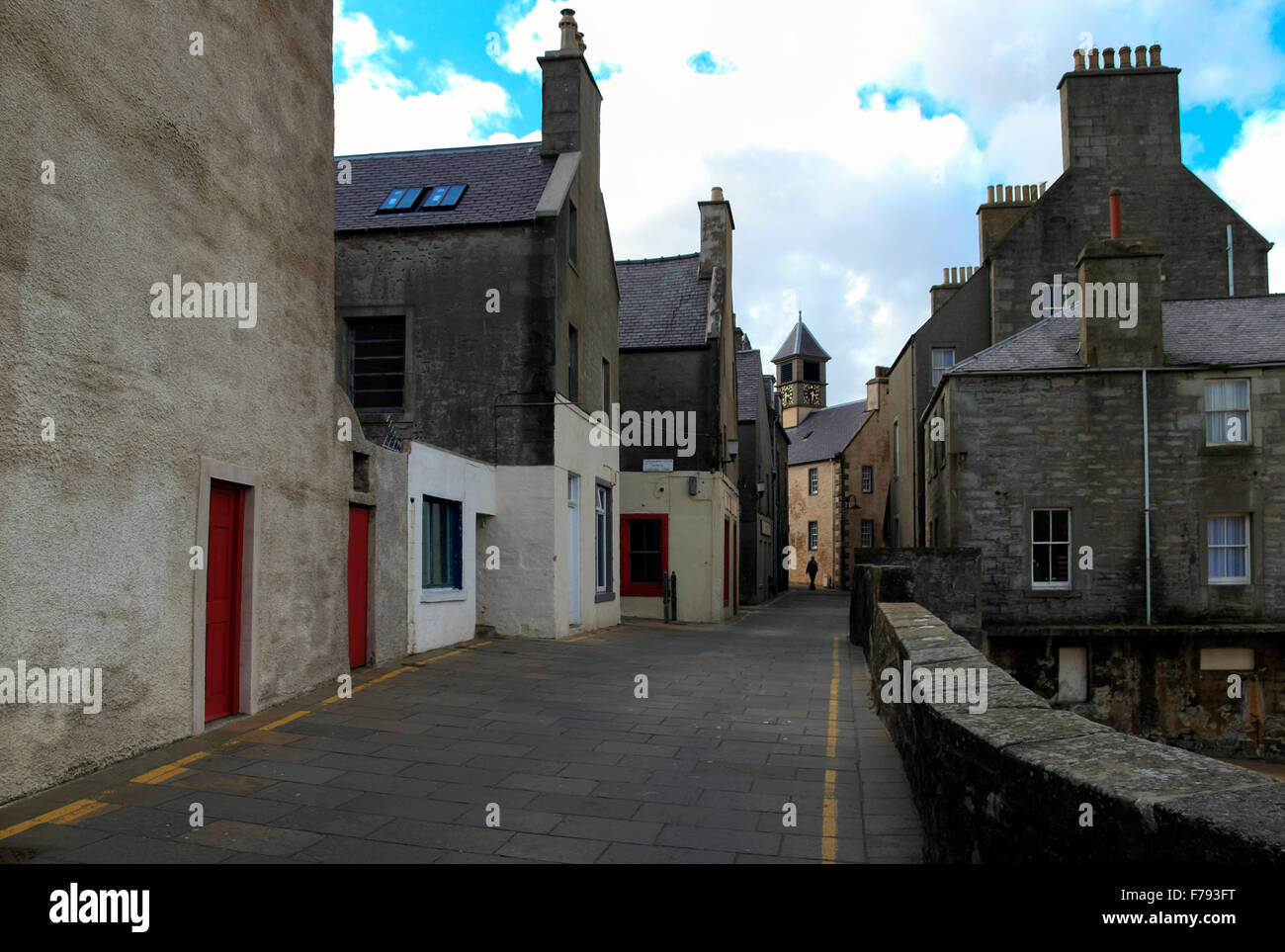 Commercial Street Lerwick Old Town Shetland Islands Scotland UK Stock Photo