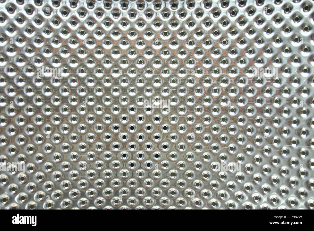 Perforated steel - Stock Image