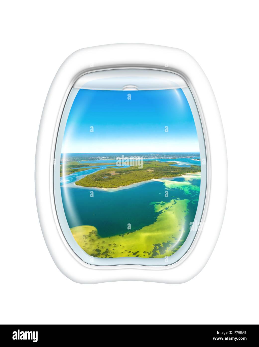 Scenic flight Australia - Stock Image