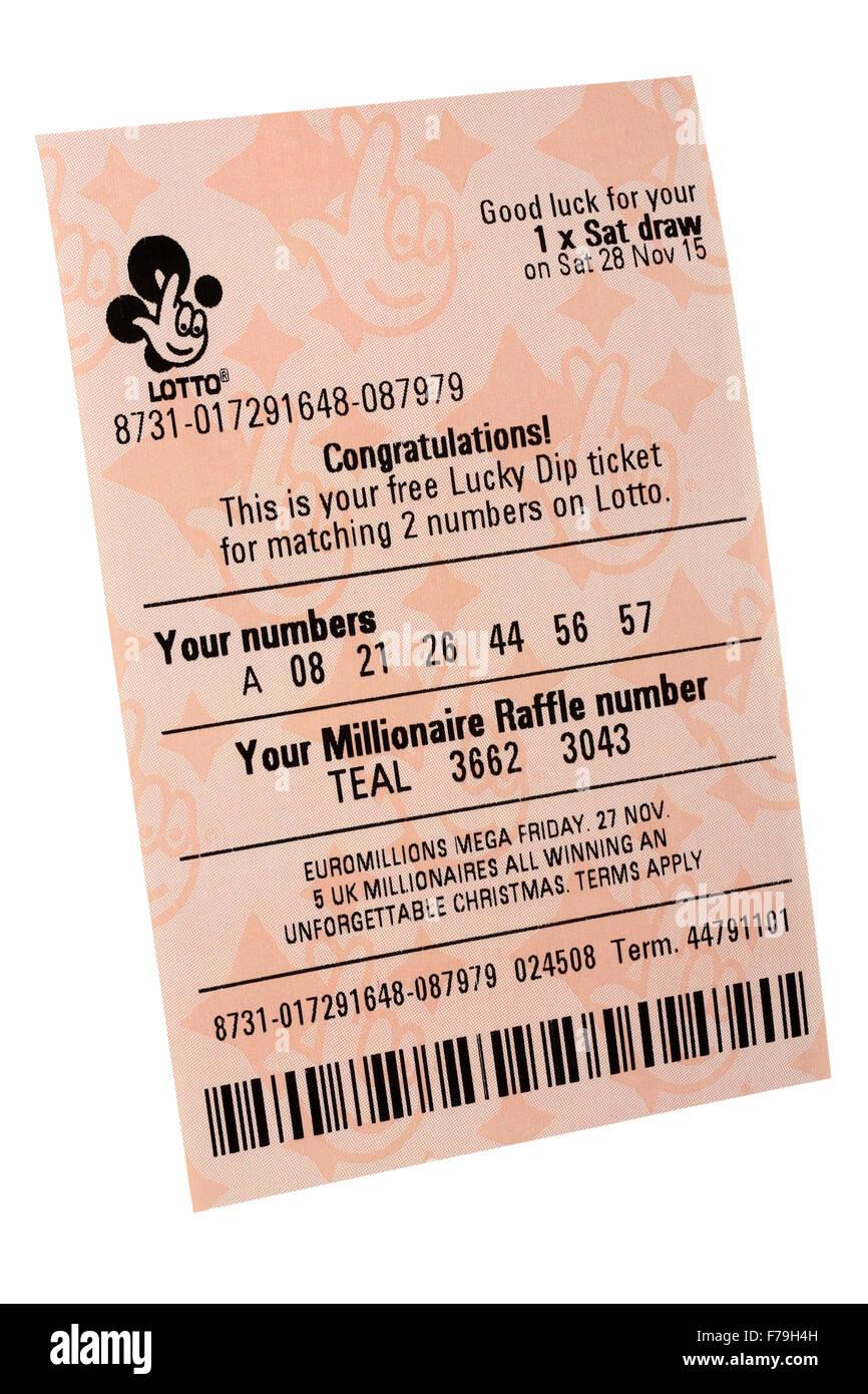 raffle numbers lottery