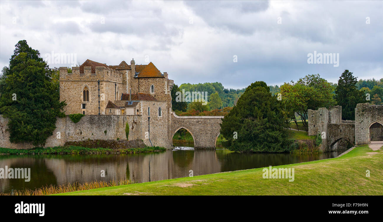 Image of Leed castle in Kent, England. - Stock Image