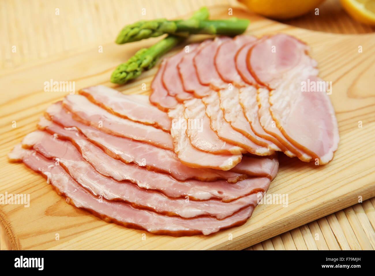 Sliced Bacon Stock Photo