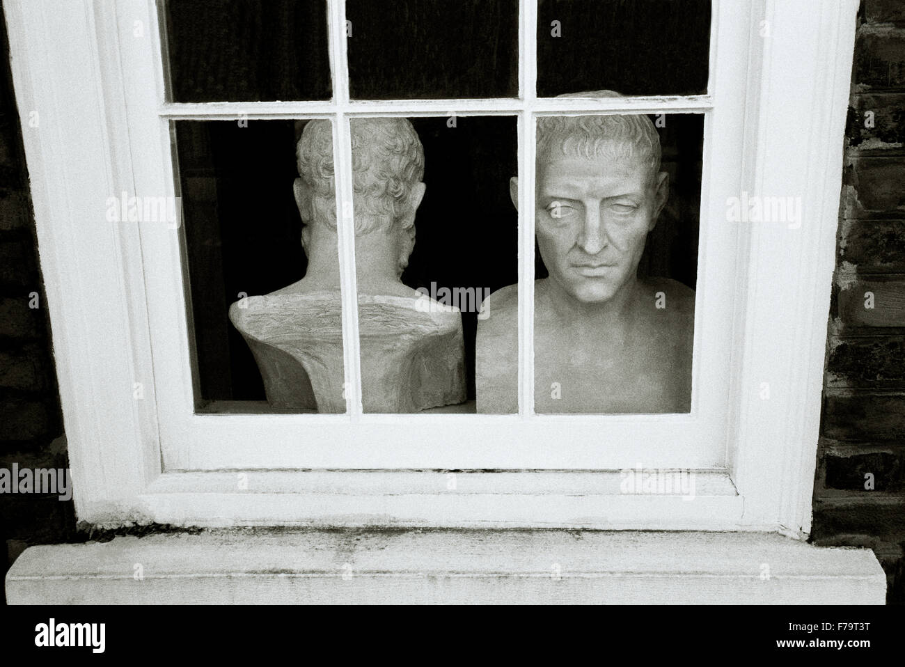 London in England in Great Britain in the United Kingdom UK. Head Philosophy Philosopher Culture History Sculpture - Stock Image