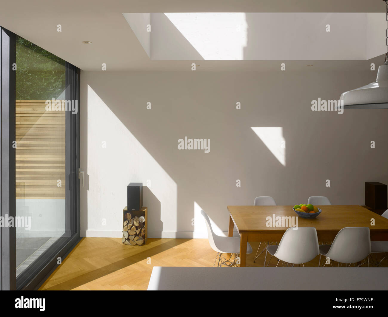 Dining Room in UK home - Stock Image