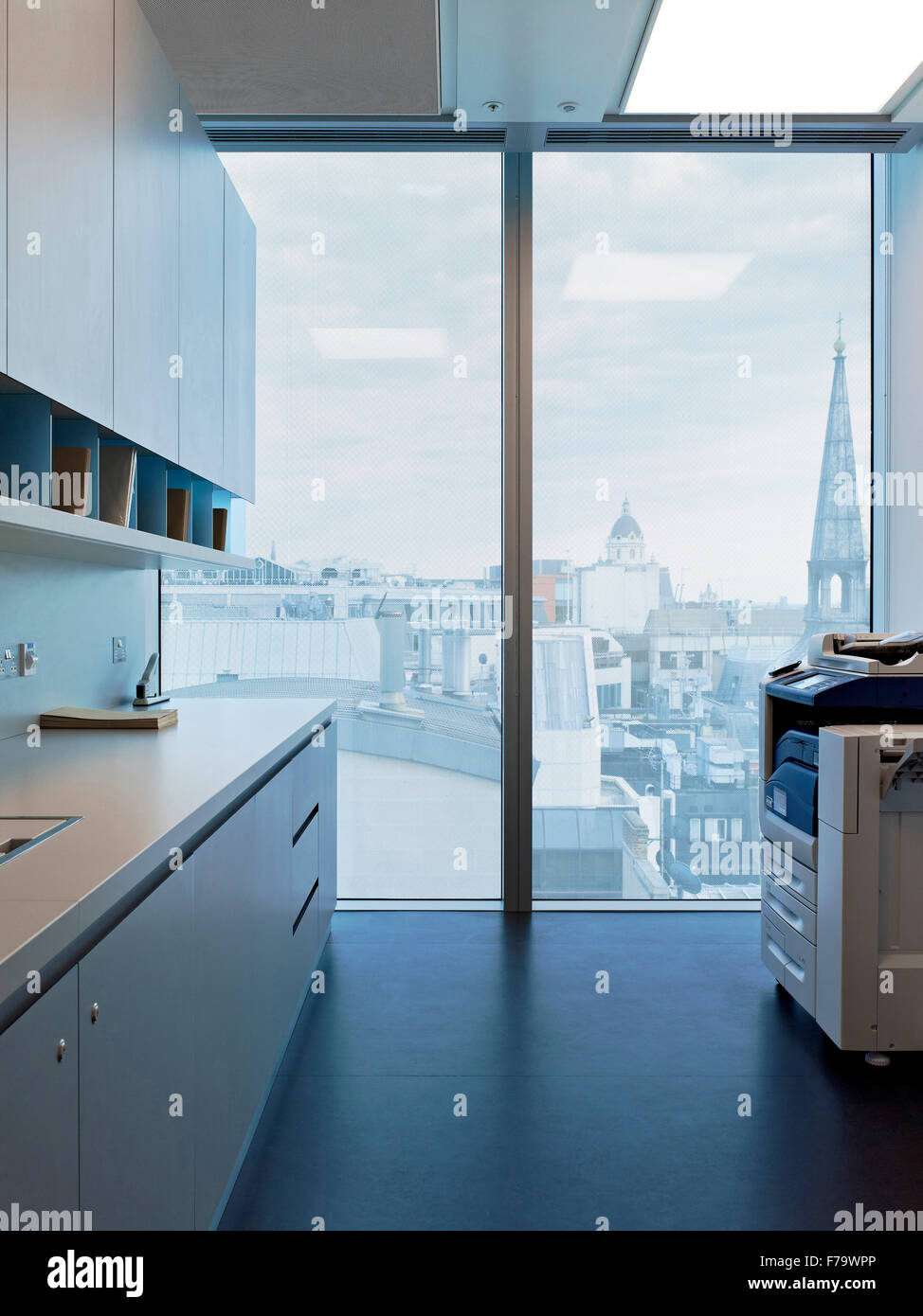 Photocopier facilities in Rothschilds London office, England, UK - Stock Image