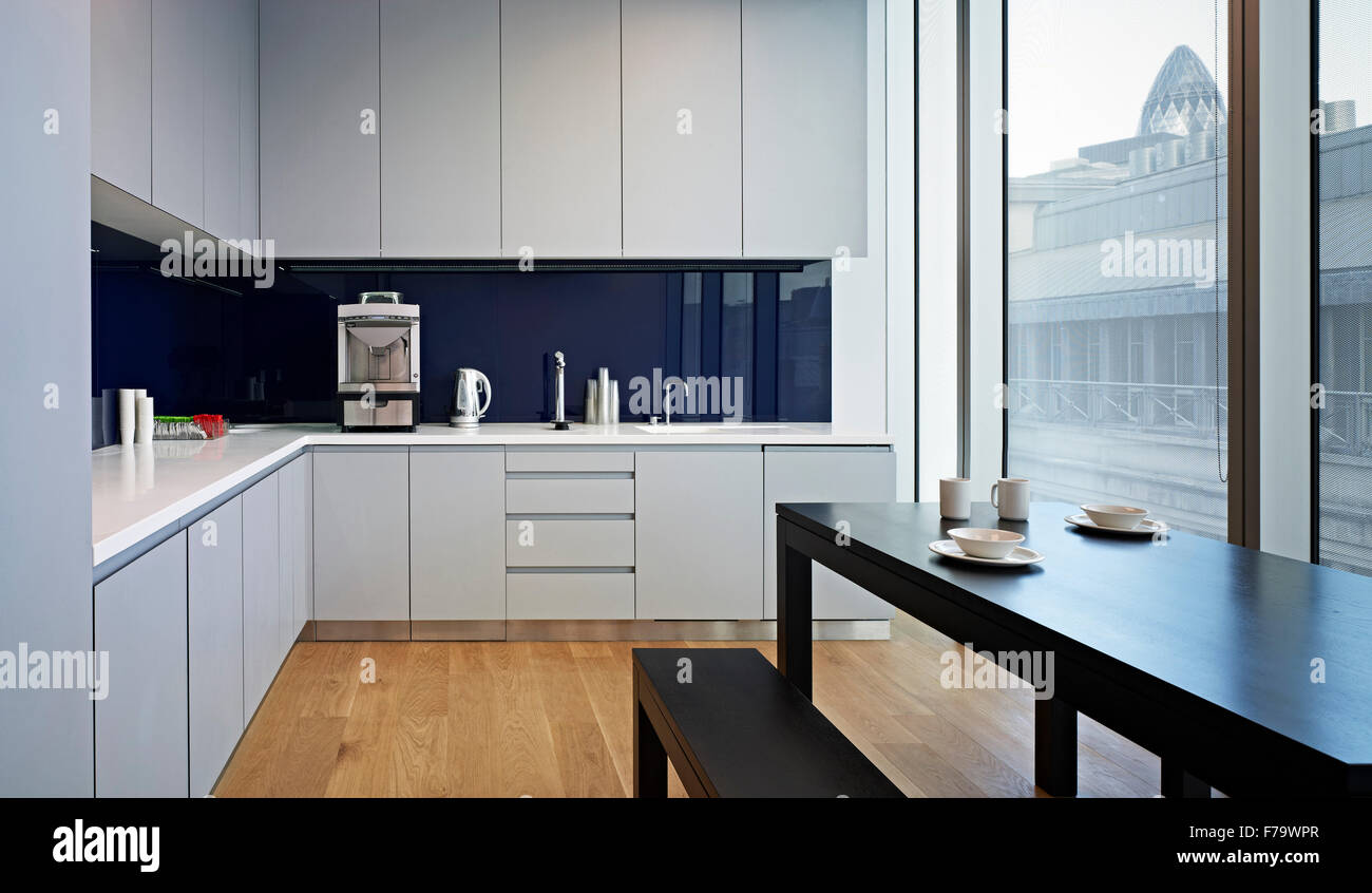 office kitchen furniture. Kitchen Facilities In Rothschilds London Office, England, UK - Stock Image Office Furniture N