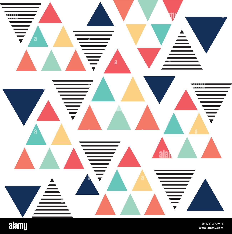Triangle pattern color variation background pastel color - Stock Image