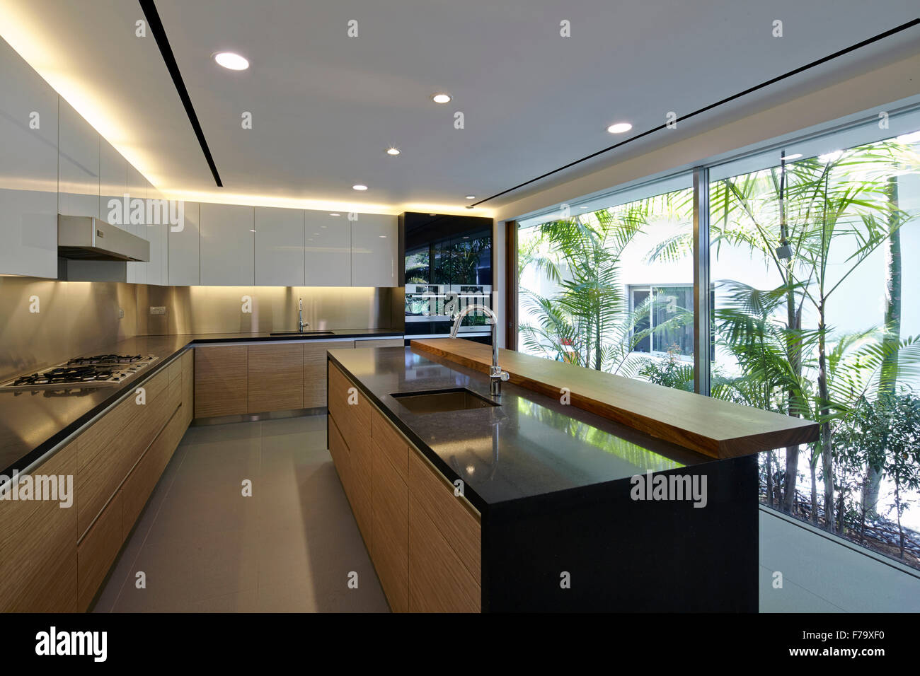 Modern Minimalist Kitchen Of A House In Cove Way Sentosa Singapore