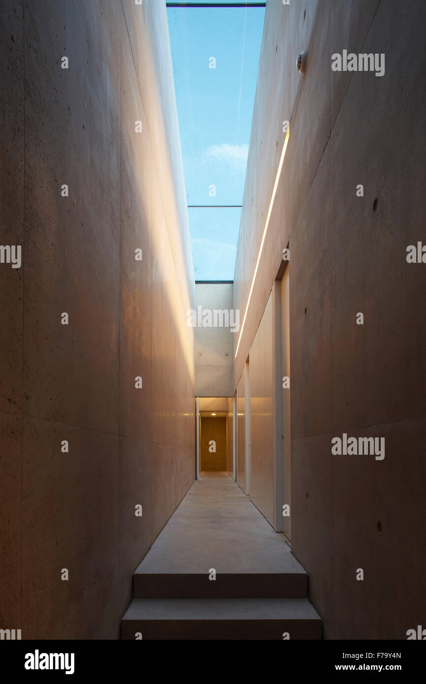 Hallway in farmhouse conversion, Cotswolds 2012, design by Found Associates - Stock Image