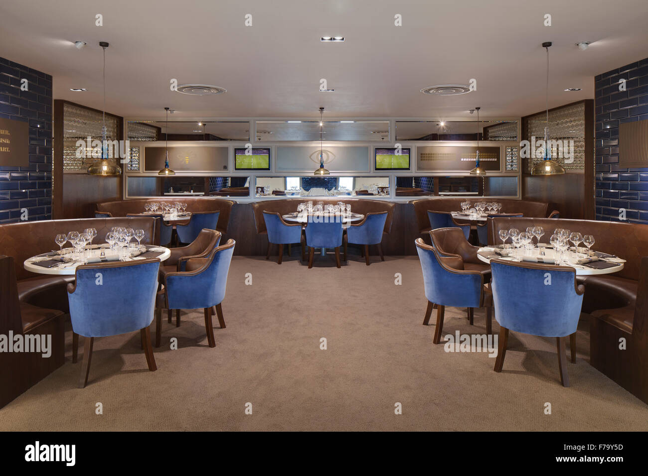 The Connaught at Etihad Stadium, Manchester City 2013, design by 2020 - Stock Image