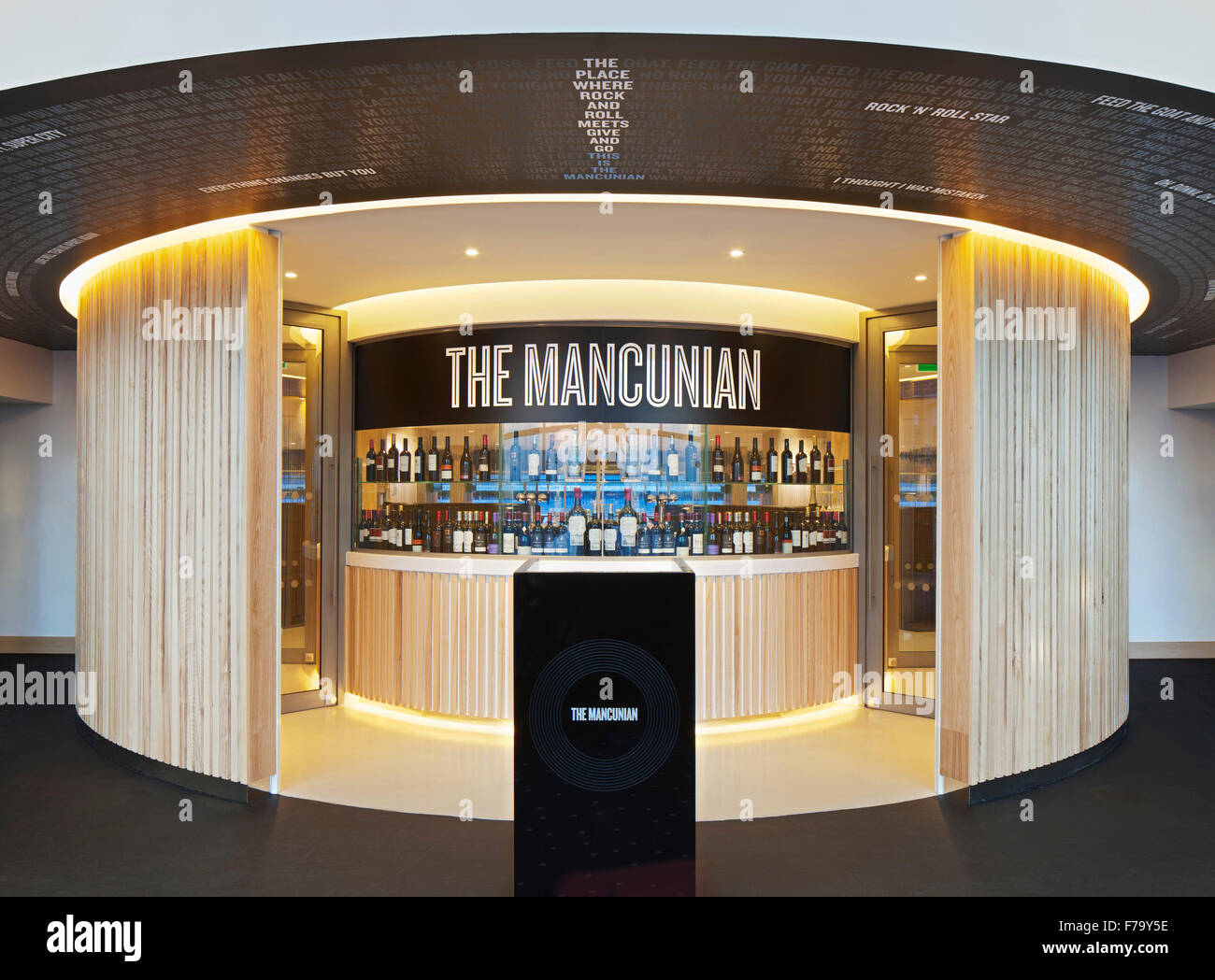 Entrance to The Mancunian at Etihad Stadium, Manchester City FC 2013, design by 20.20 - Stock Image