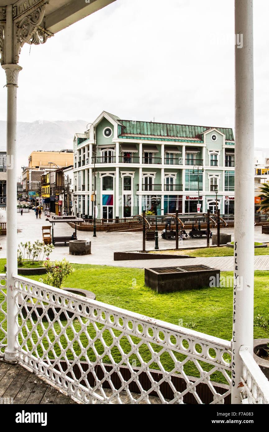 Arturo Prat Square (Plaza Arturo Prat). Iquique, Tarapaca Region, Chile. - Stock Image