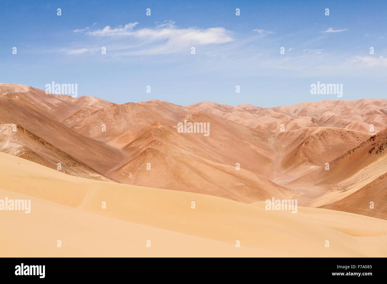 Atacama Desert. Iquique, Tarapaca Region, Chile. - Stock Image