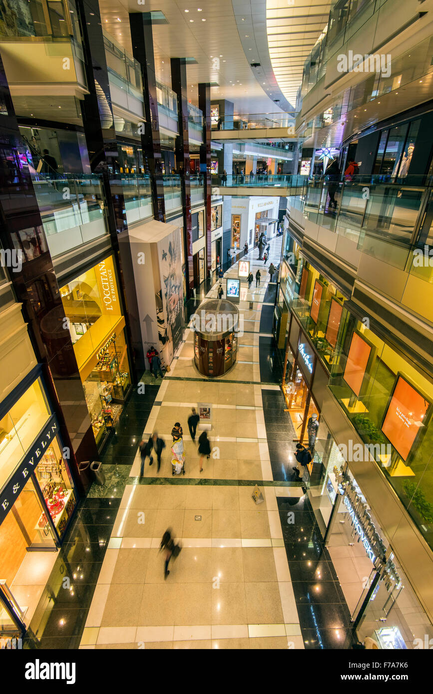 The Shops at Columbus Circle shopping mall, Time Warner Center, Manhattan, New York, USA - Stock Image