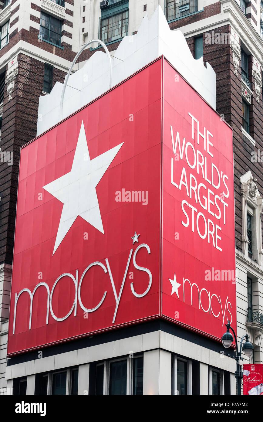 Macy's department store, Herald Square, Manhattan, New York, USA - Stock Image