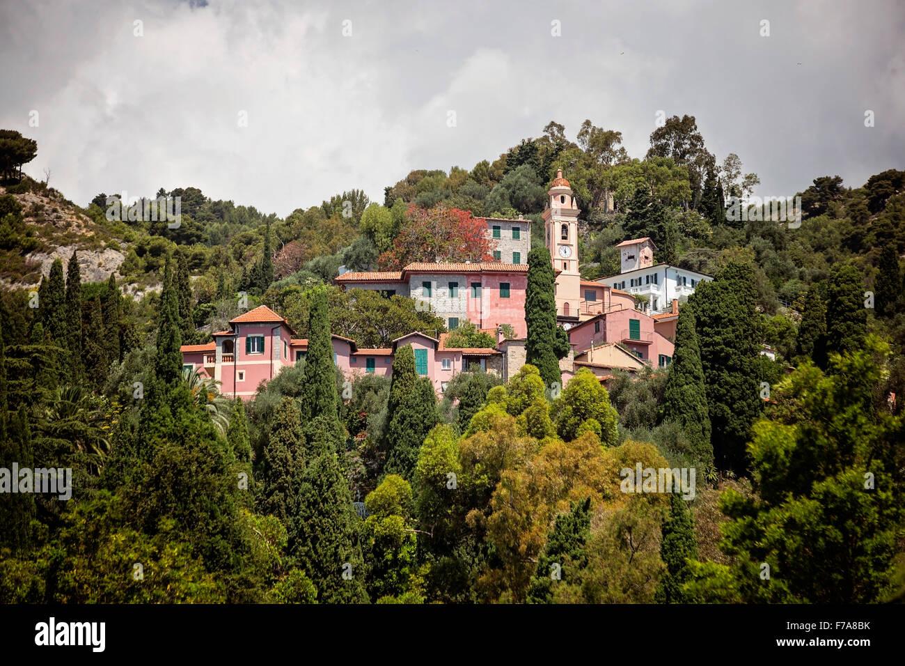 Mortola Inferiore, Hanbury Botanical Gardens, Ventimiglia, Imperia, Liguria, Italy. - Stock Image