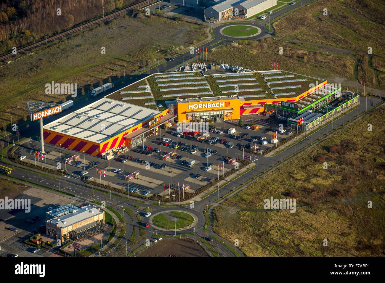 Hornbach Baumarkt, former steelworks site in Oberhausen, Oberhausen, Ruhr, North Rhine Westphalia, Germany, Europe, - Stock Image