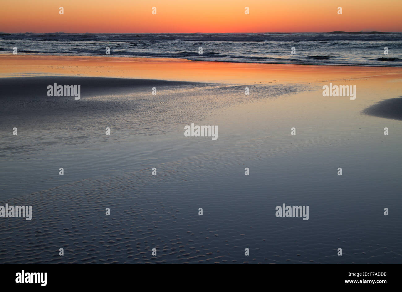 Just after sunset at  Tierra Del Mar, Oregon, U.S.A. Stock Photo