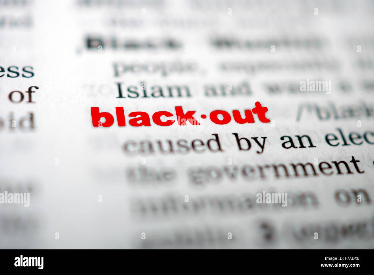 BLACKOUT - Stock Image