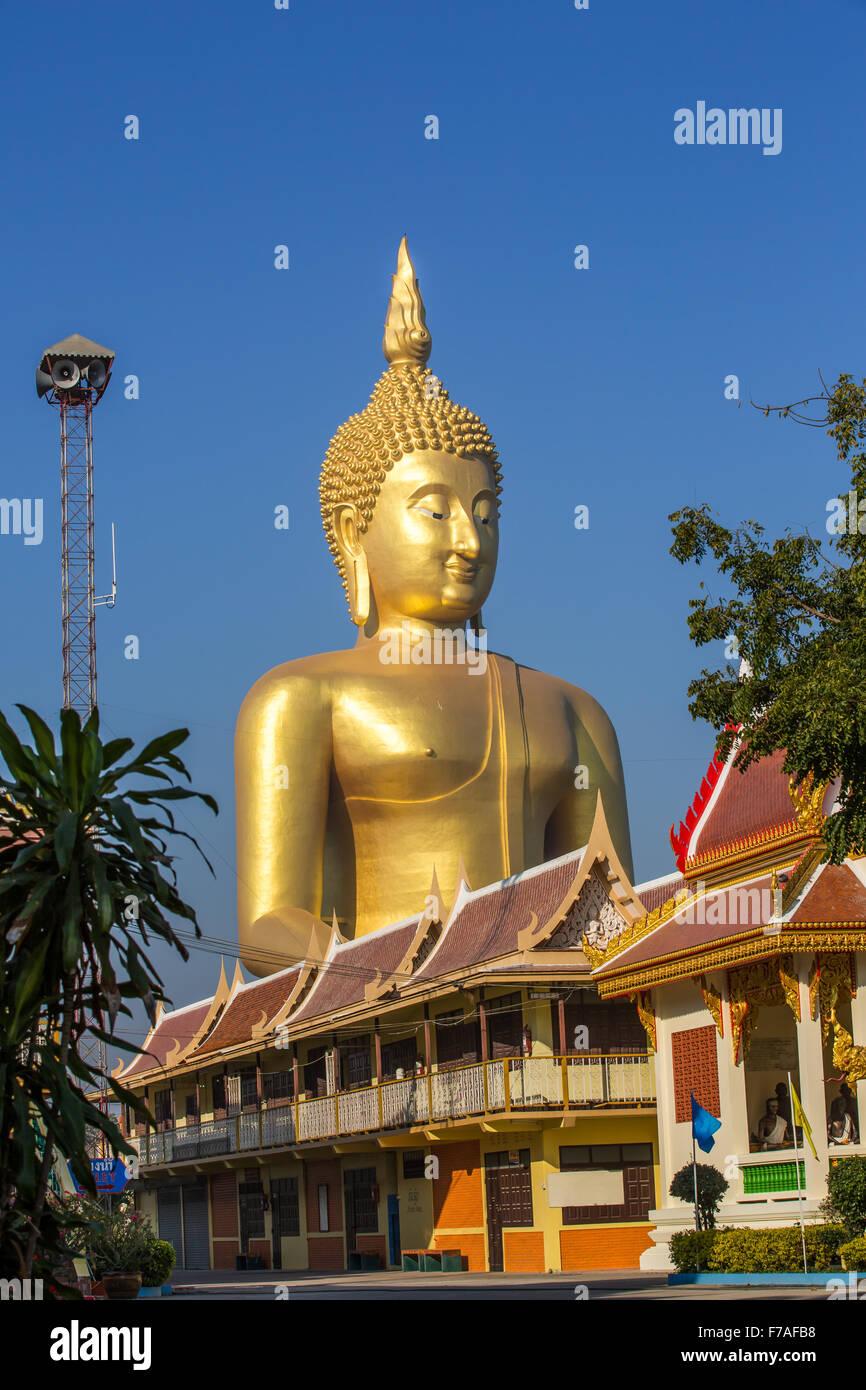 Enormous Buddha Sculpture at Wat Muang - Ang Thong, Thailand - Stock Image