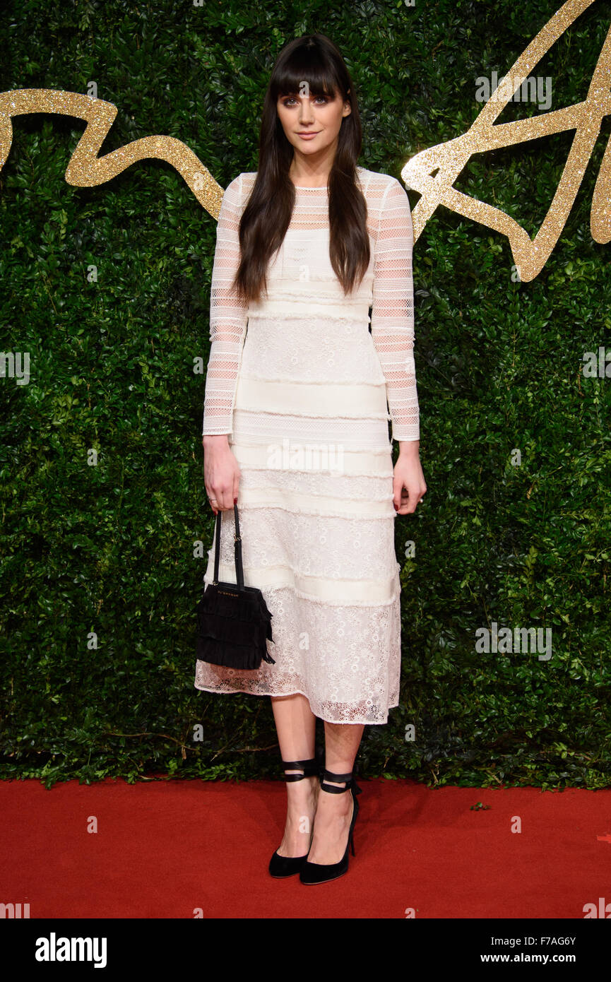 Lilah Parsons at the British Fashion Awards 2015 in London - Stock Image
