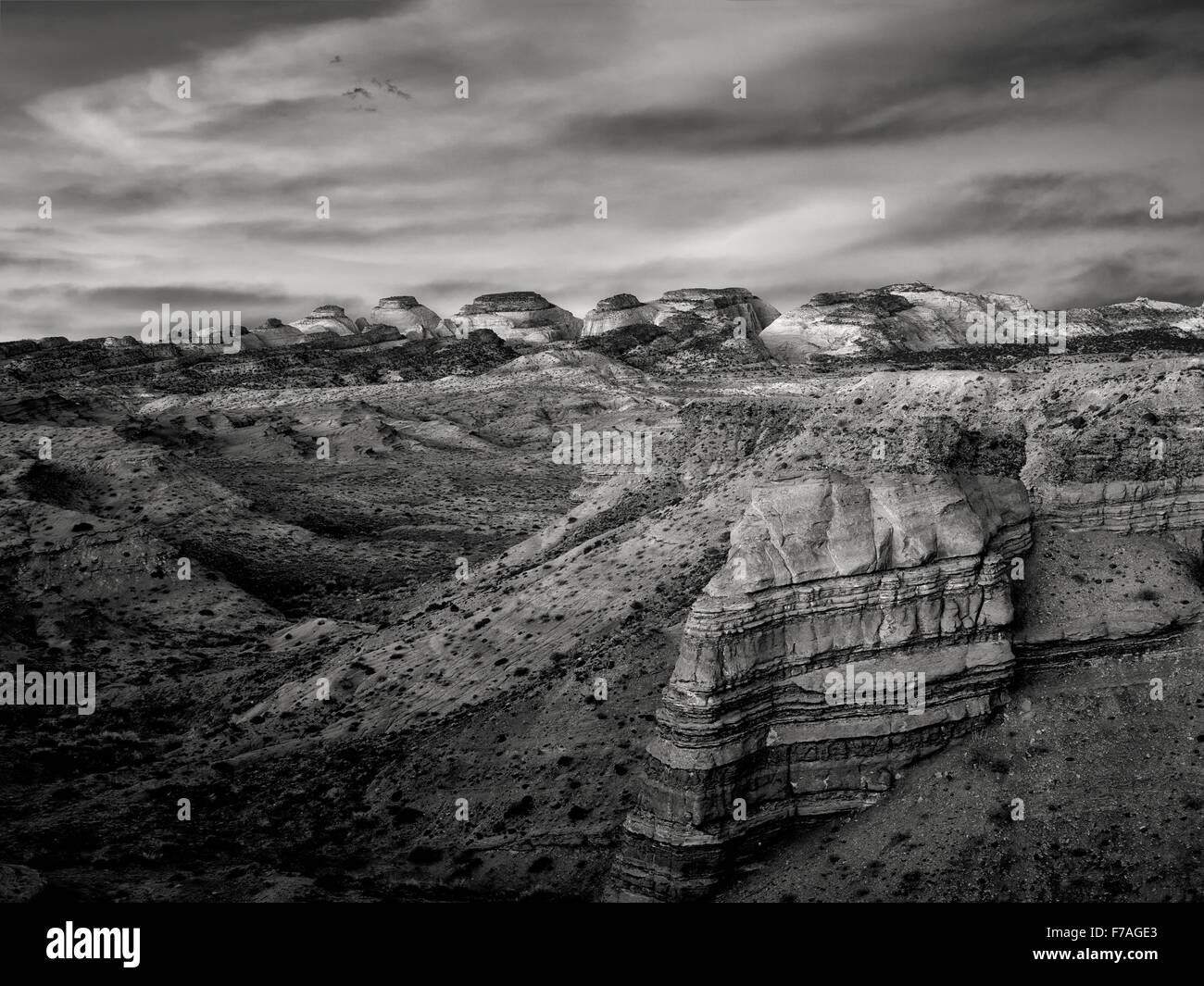 Sunrise at The Hartnet South Desert Waterpocket Fold. Capitol Reef National Park, Utah - Stock Image