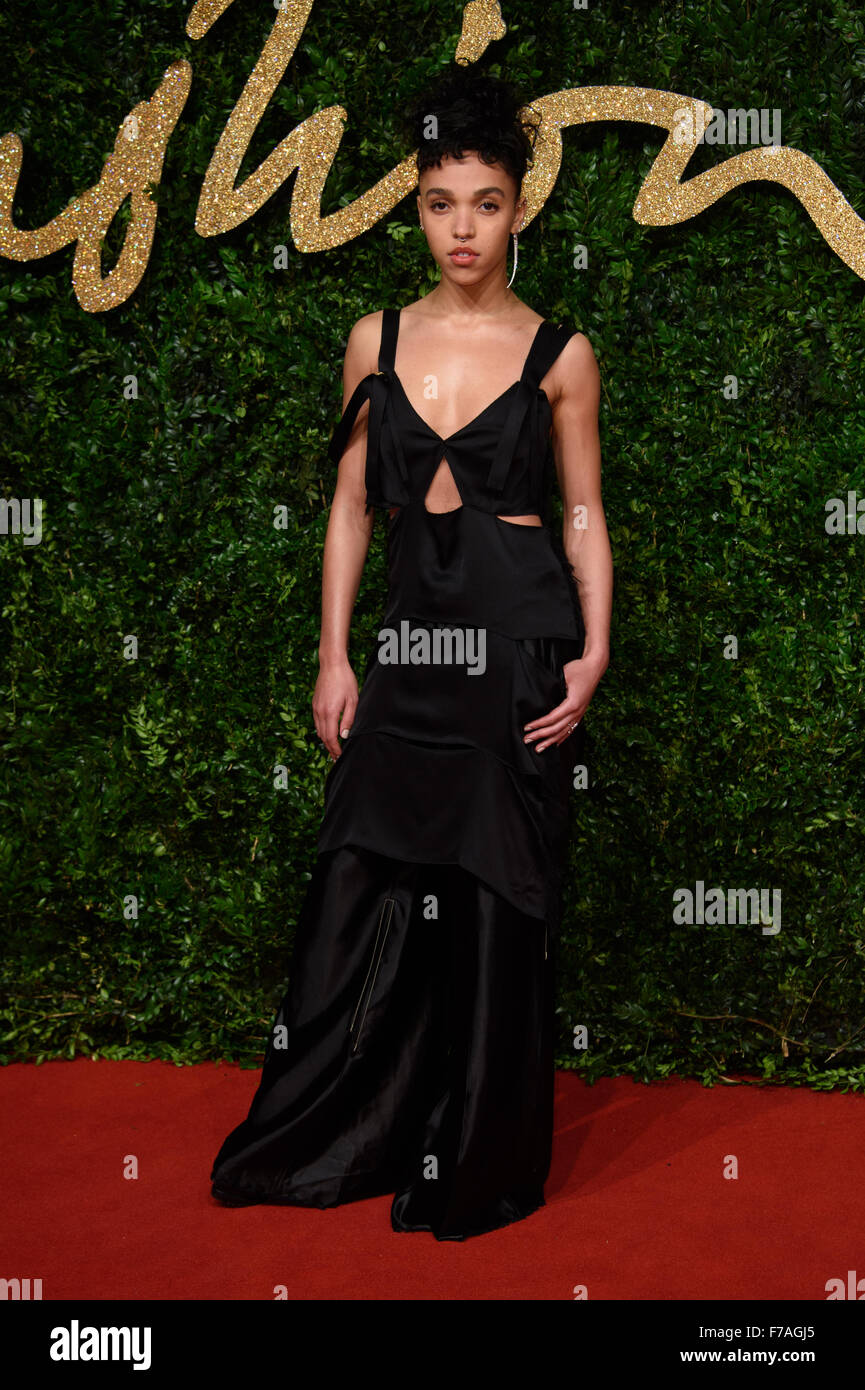 FKA Twigs at the British Fashion Awards 2015 in London - Stock Image
