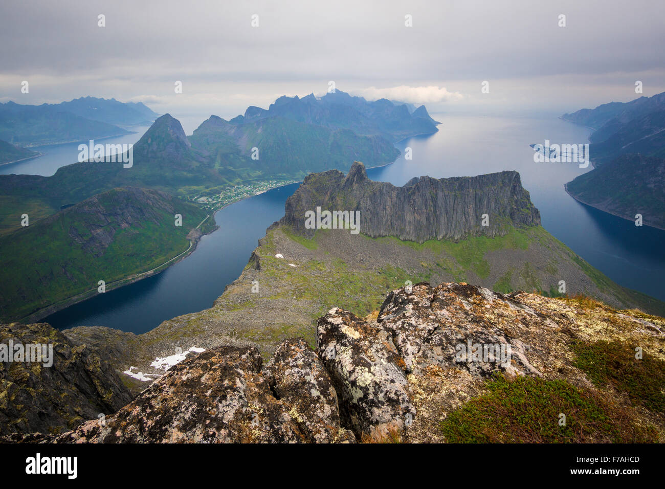 Grytetippen views, Senja - Stock Image