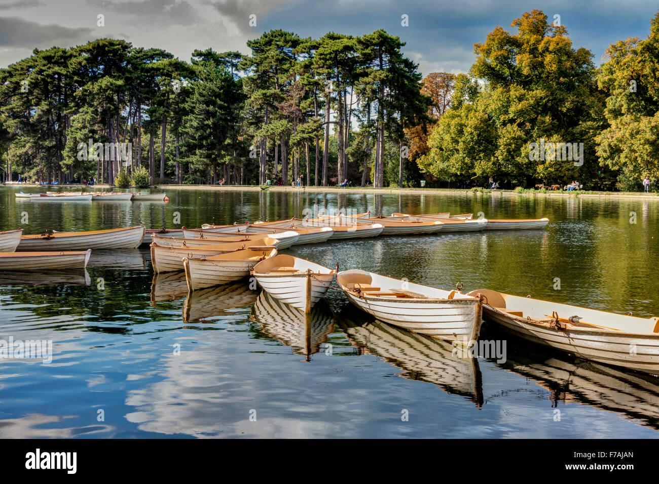 Bois de Boulogne Paris France - Stock Image