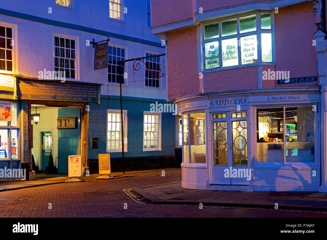 Faversham at night, Kent, England UK Stock Photo