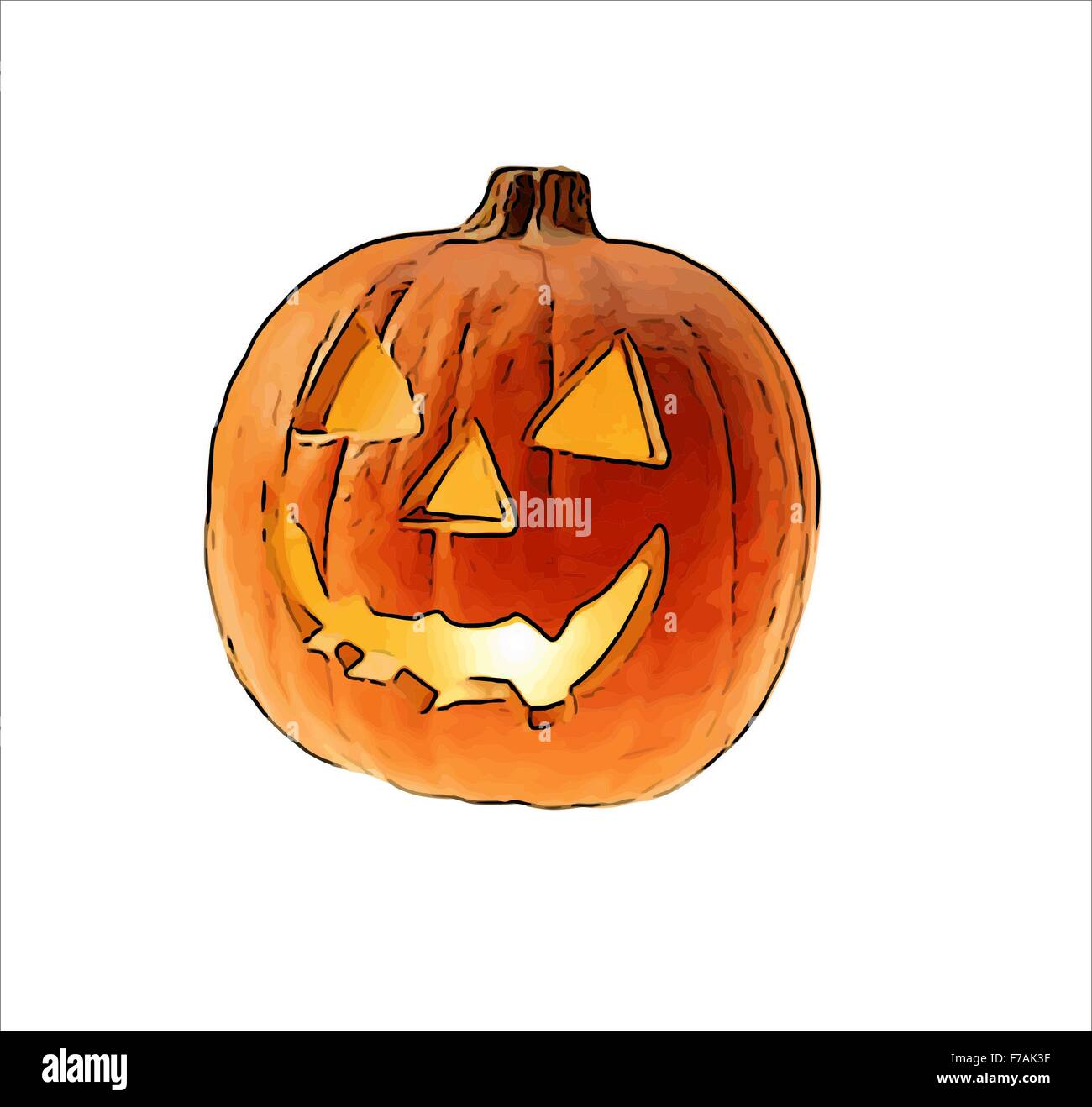 Pumpkin Drawing High Resolution Stock Photography And Images Alamy