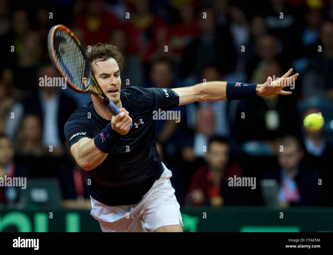Gent, Belgium, November 27, 2015, Davis Cup Final, Belgium-Great Britain, Second match, Andy Murray (GBR)  Credit: - Stock Image