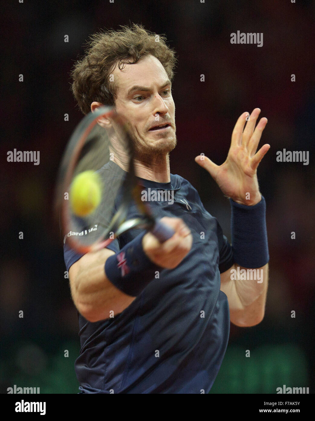 Gent, Belgium, November 27, 2015, Davis Cup Final, Belgium-Great Britain, Second match, Andy Murray (GBR)  Credit: - Stock Image