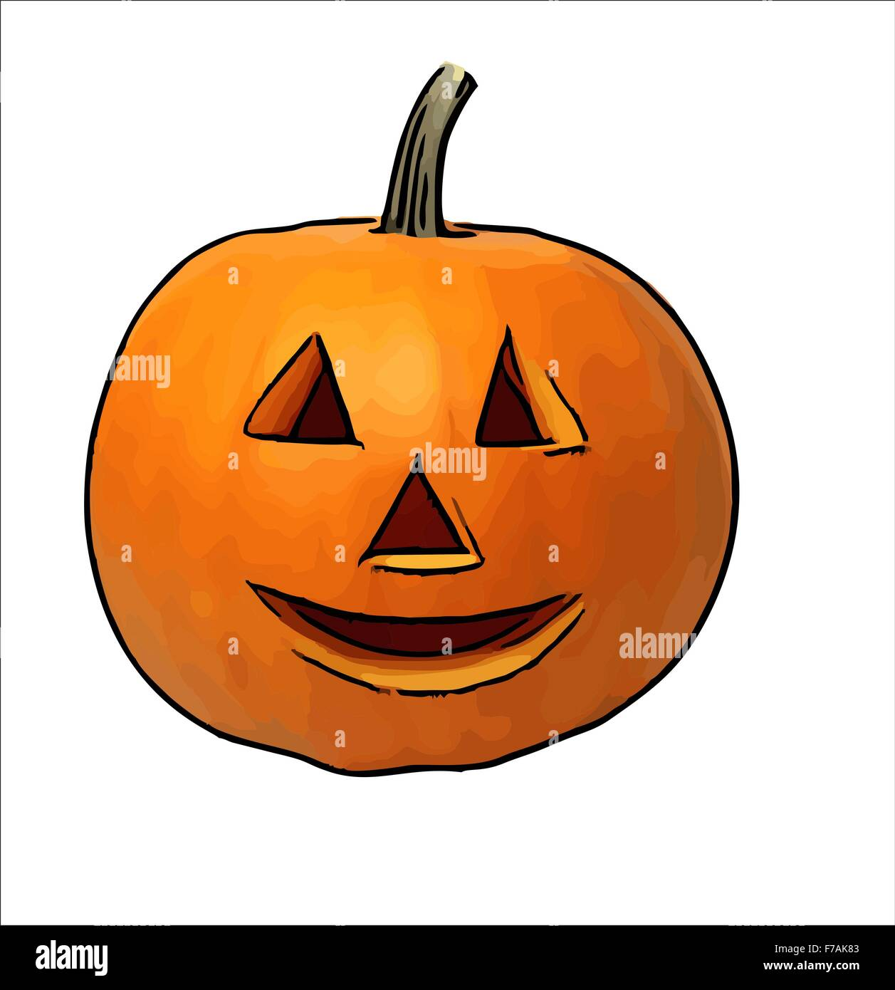 Halloween Pumpkin Drawing Picture.Halloween Pumpkin Children Drawing Halloween Pumpkins Stock Photo