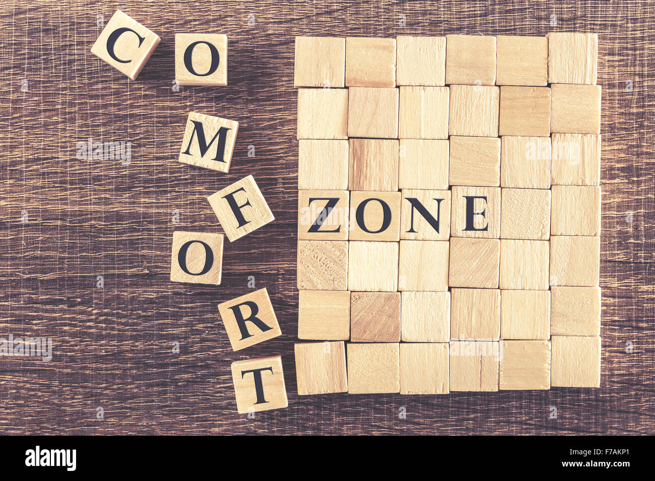 Step out of your Comfort Zone concept Stock Photo