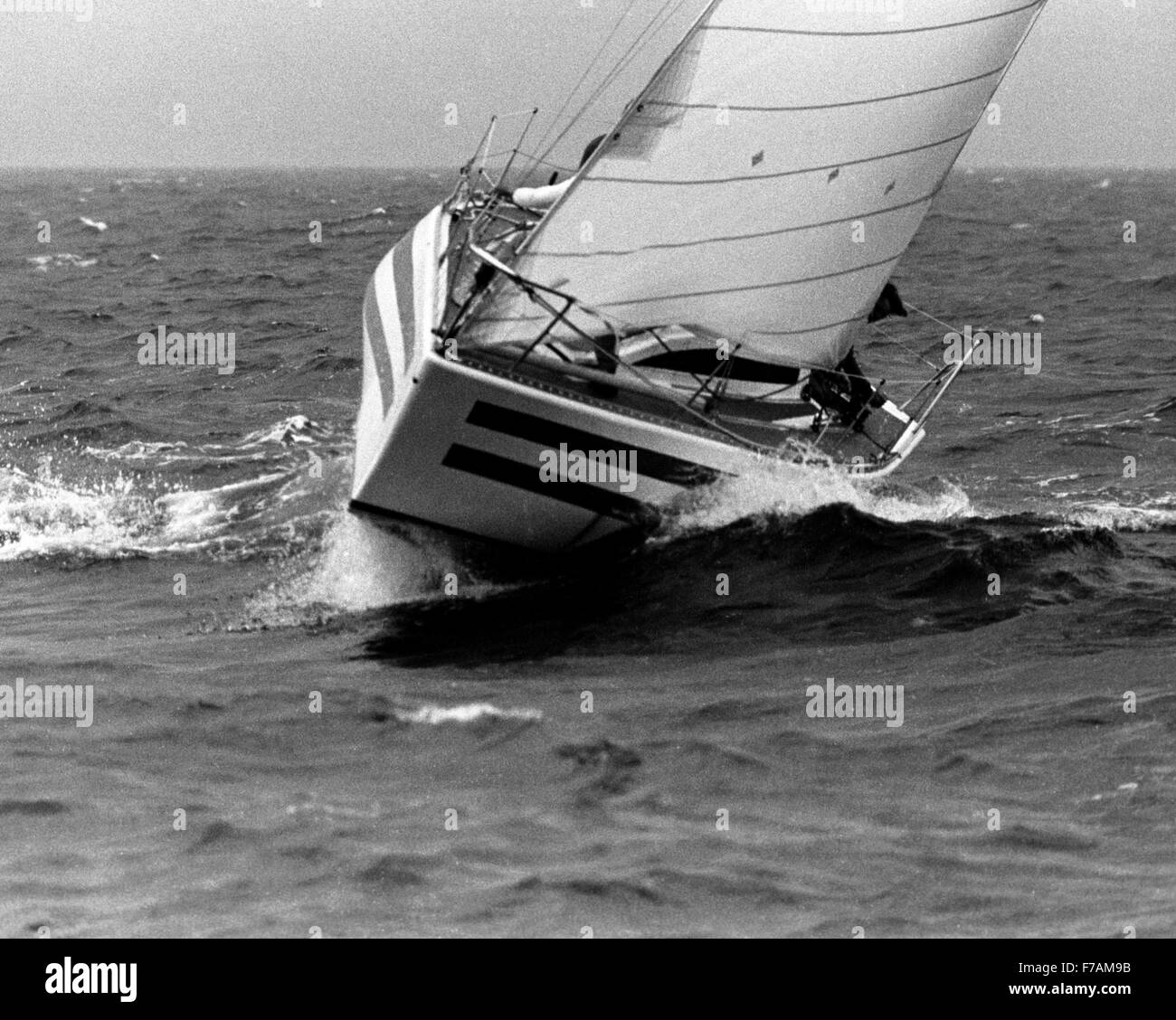 AJAXNETPHOTO. 1979. SCHEVENINGEN, HOLLAND. - HALF TON WORLD CHAMPIONSHIPS - SMIFFY COMPETING IN THE WORLD CHAMPIONSHIPS. - Stock Image