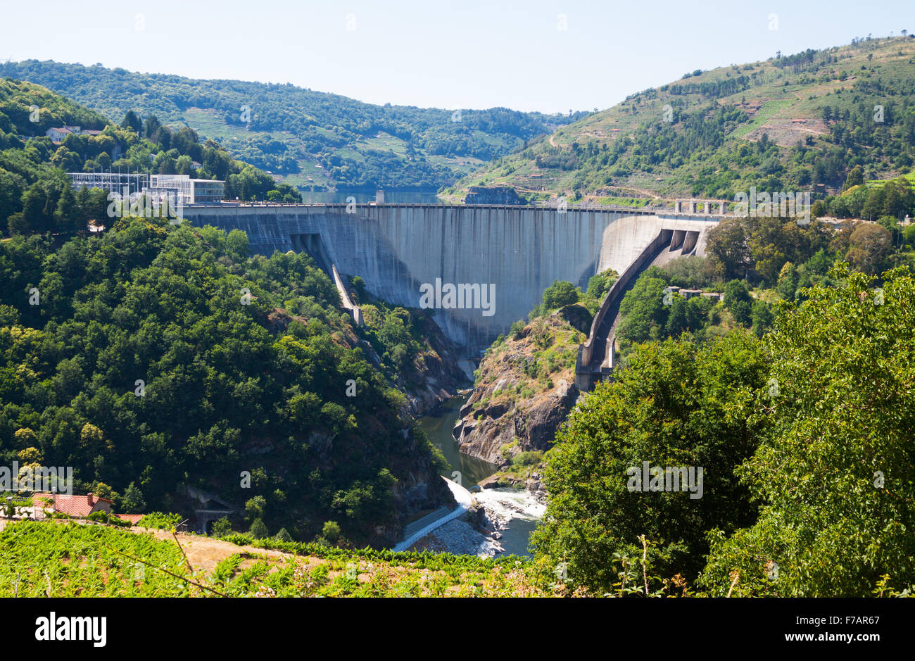 Hydroelectric Power Plant Spain Best Electrical Circuit Wiring Mini Hydro Diagram Dam Of Electric Station Belesar Galicia Stock Rh Alamy Com Nuclear