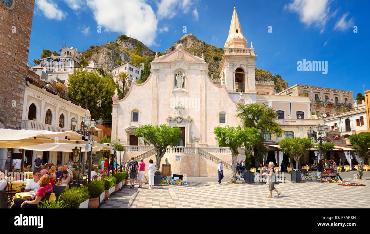 Church of San Giuseppe, Taormina Old Town, Sicily, Italy - Stock Image