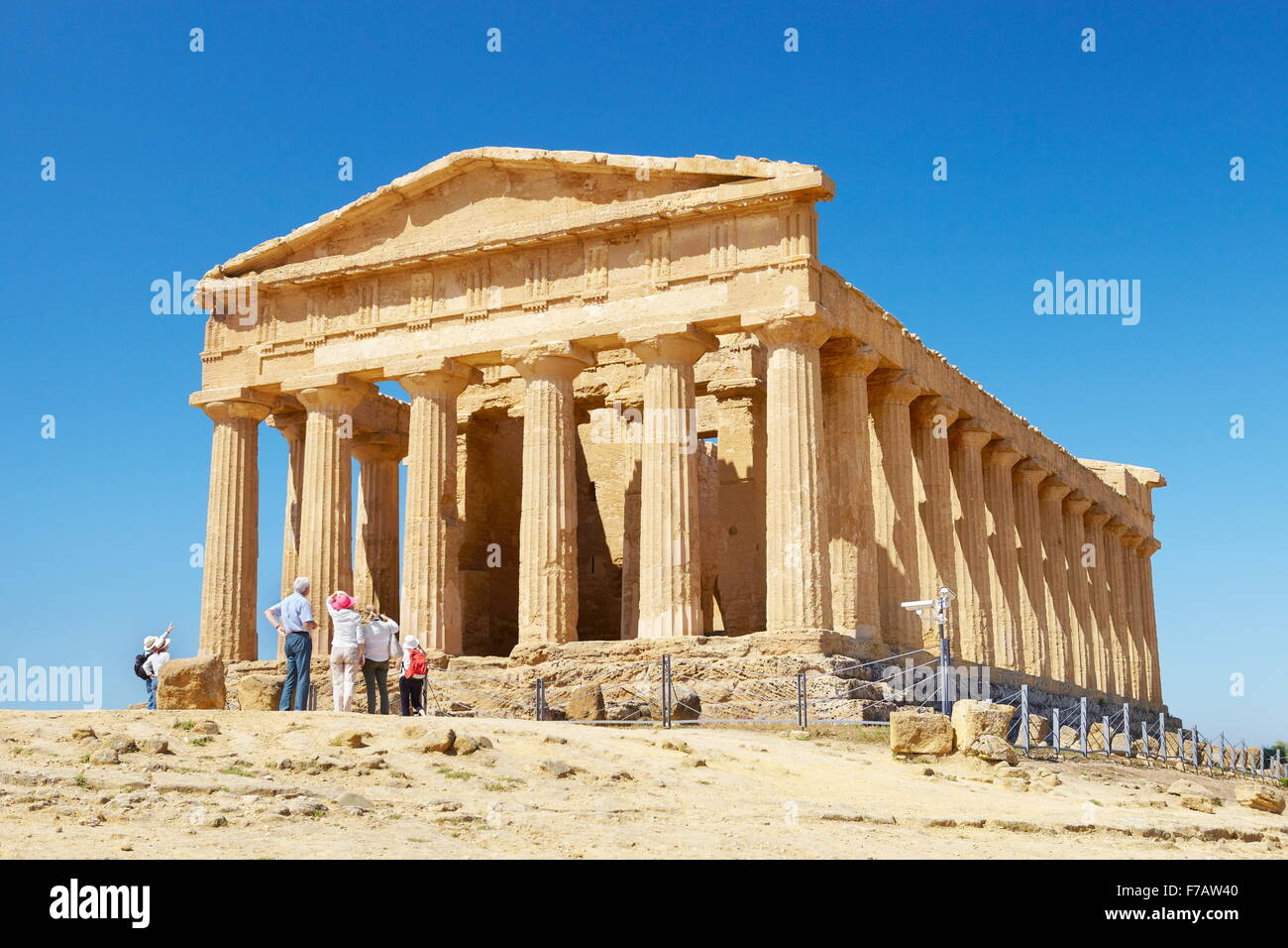 Agrigento - Temple of Concordia, Valley of Temples (Valle dei Templi), Agrigento, Sicily, Italy UNESCO - Stock Image