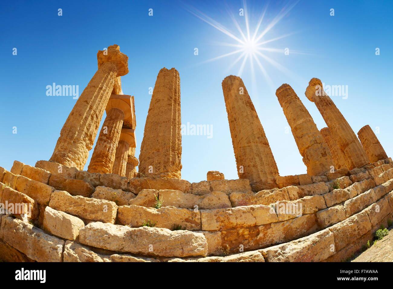 Agrigento - Temple of Hera in Valley of Temples (Valle dei Templi), Agrigento (Girgenti), Sicily, Italy UNESCO - Stock Image