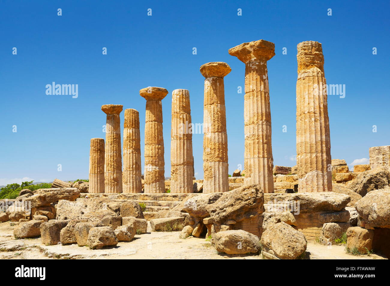 Valley of Temples (Valle dei Templi), Temple of Hercules (Tempio di Eracle) Agrigento, Sicily, Italy UNESCO - Stock Image