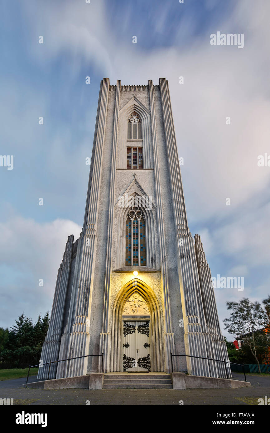 Roman Catholic Cathedral of Christ the King, Reykjavik, Iceland - Stock Image