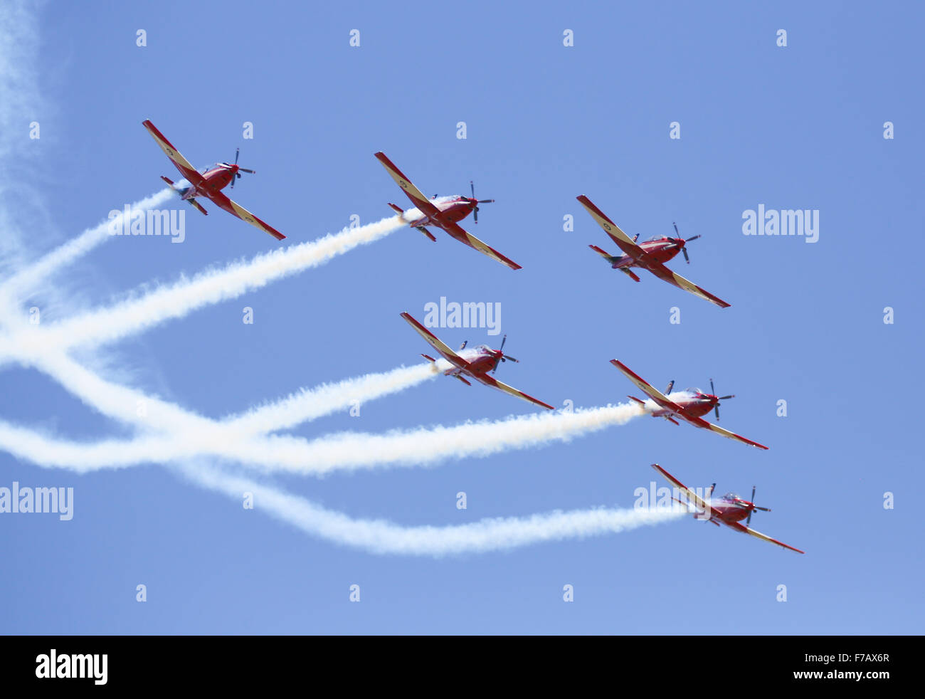 Royal Australian Air Force Roulettes at Warbirds Down Under 2015, Temora, NSW, Australia. - Stock Image