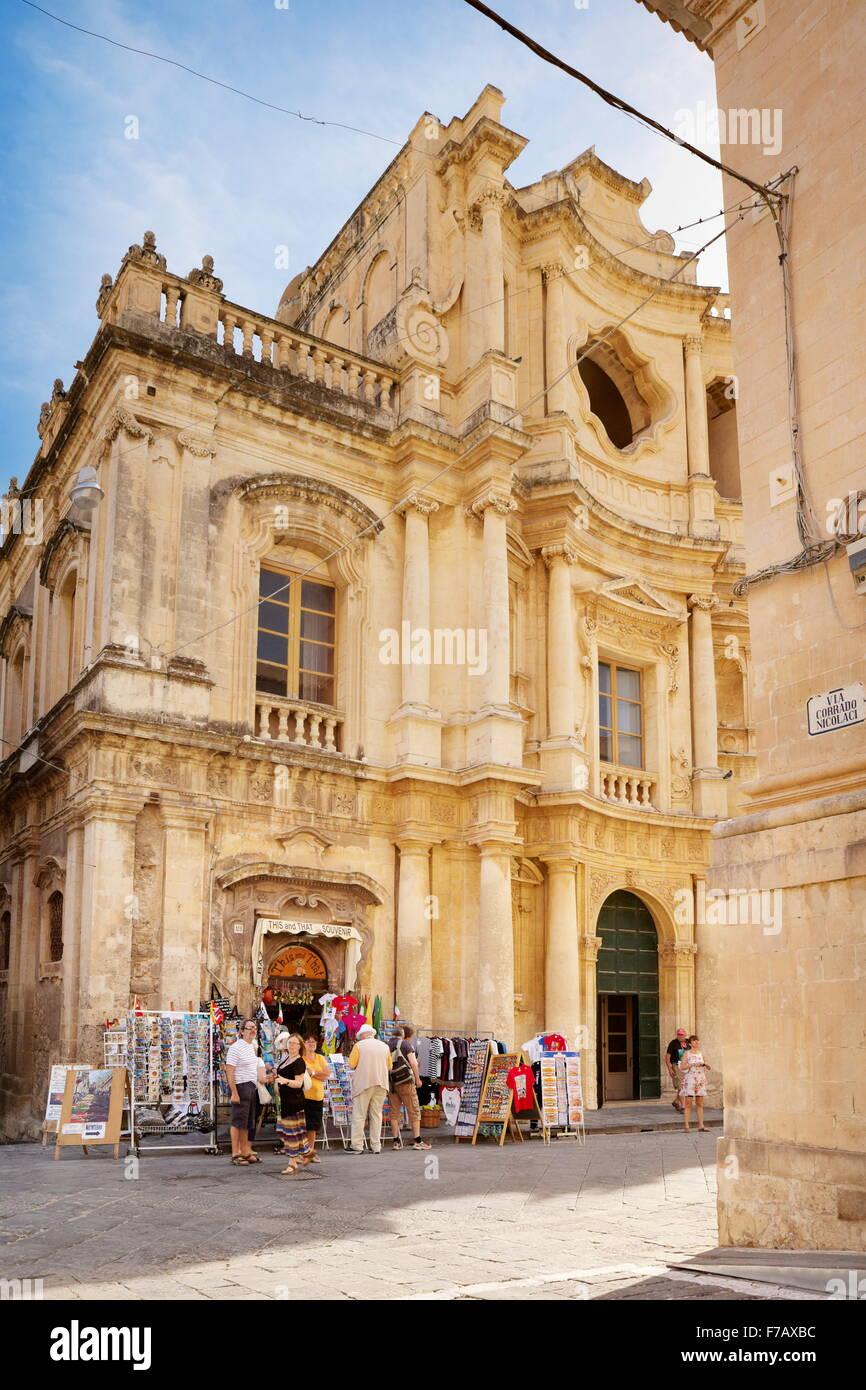 Noto Old Town, Sicily, Italy UNESCO - Stock Image