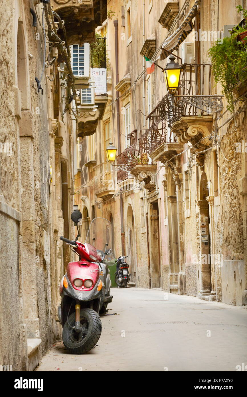 Syracuse Old Town, Sicily, Italy UNESCO - Stock Image
