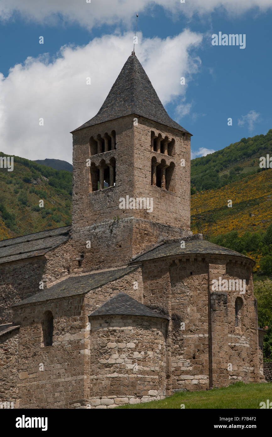 Eglise de Axiat, Ariège, France - Stock Image