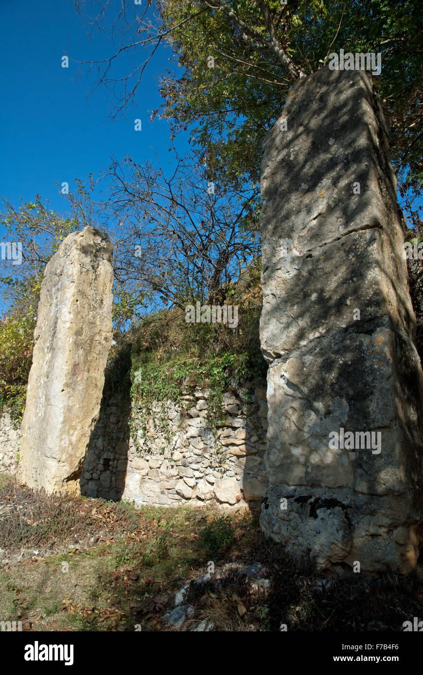 Menhirs de Mancioux, Haute-Garonne, France - Stock Image