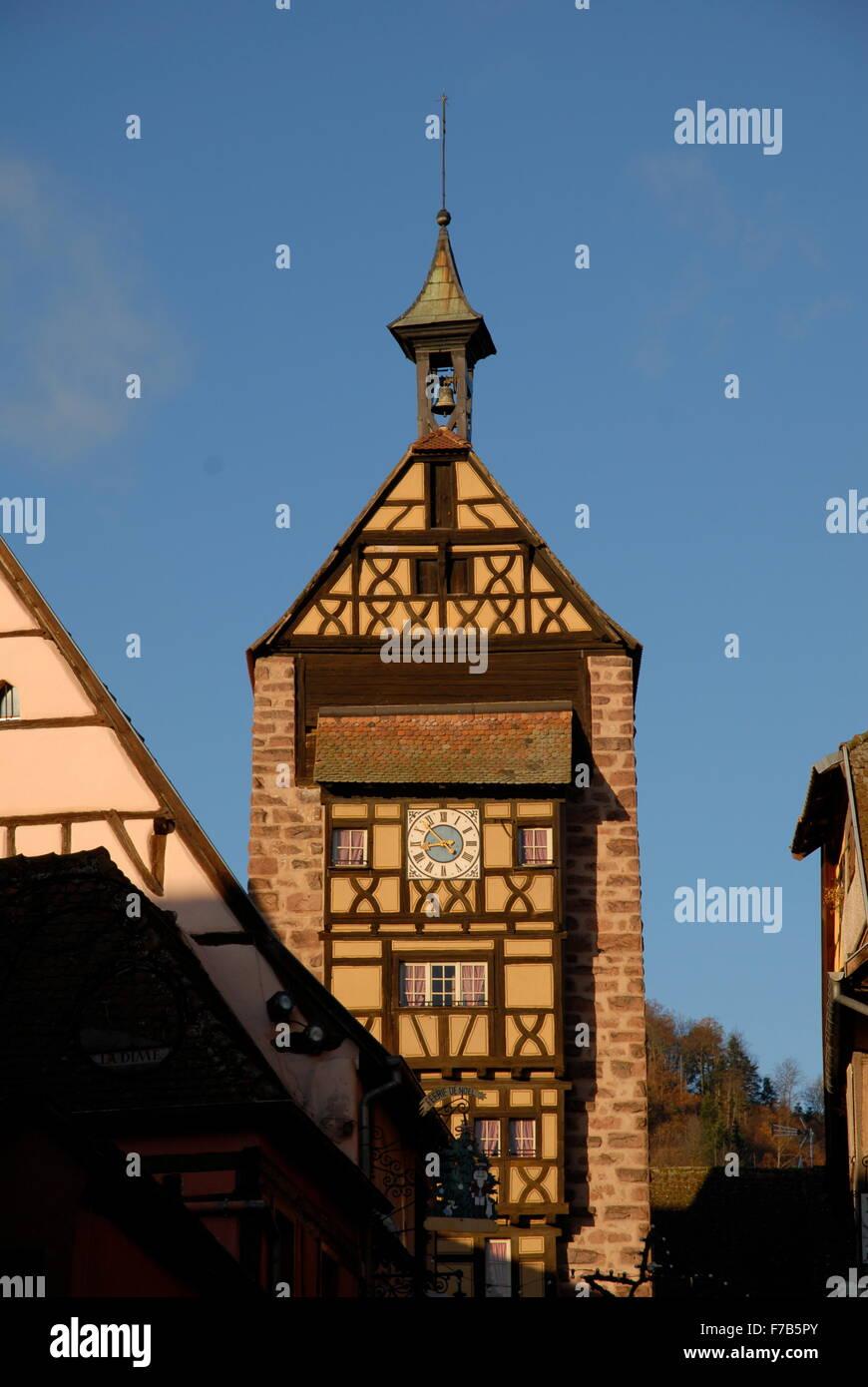 Riquewihr, Alsace, France - Stock Image